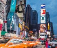 Time Square au crépuscule Images libres de droits