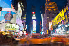Time Square bij Schemer Royalty-vrije Stock Fotografie
