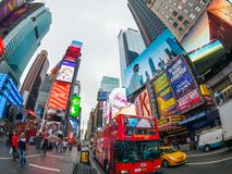 Time Square day time cityscape royalty free stock photography