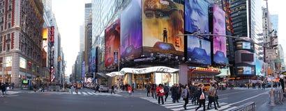 Time Square de Stad in van Manhattan, New York Stock Foto