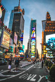 Time Square the evening, New York City Stock Photo