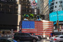 Time Square Memorial Day 2019 images stock