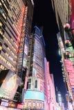 Time Square na noite, New York City imagens de stock