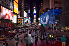 Time Square nattglans, NYC Arkivfoton