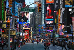 Time Square in New York City Stock Photos