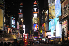 Time Square at  night. Time square in New Yorks City at night.Southern end of the square Stock Image