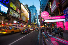 Time square night time Royalty Free Stock Images