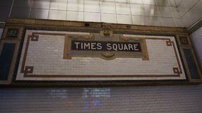 Time Square Station Sign - Metro - Subway Royalty Free Stock Images