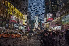 Time square royalty free illustration