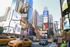 Time square traffice Royalty Free Stock Photography