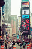 Time square with yellow taxi, New York. USA Royalty Free Stock Images