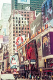 Time square with yellow taxi, New York Royalty Free Stock Images