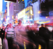 Time Squere - motion blurred Royalty Free Stock Photography