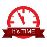 It is time sticker Royalty Free Stock Images