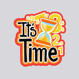 Time Sticker Social Media Network Message Badges Design Stock Image