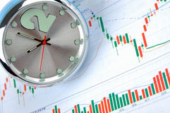 Time and stock wave Royalty Free Stock Image