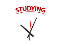 Time on Studying Stock Image