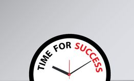 Time for success. Clock woth a time for success Stock Image