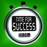 Time For Success Message Means Victory And Winning Stock Photography