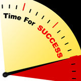 Time For Success Message Representing Victory And Winning Royalty Free Stock Image
