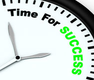 Time For Success Message Showing Victory And Winning. Time For Success Message Shows Victory And Winning stock illustration