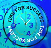 Time For Success Represents Triumphant Win And Progress Royalty Free Stock Image