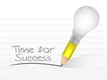 Time for success written on a notepad Stock Photography