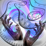 Time. Surreal composition. Manipulation of time vector illustration