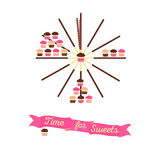 Time for sweets concept Stock Photo