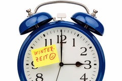 Time switch to winter time Royalty Free Stock Photo