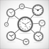 Time synchronization diagram -  Vector Illustration Royalty Free Stock Photography