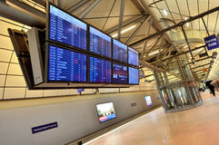 Time table departure at train station in airport Royalty Free Stock Photo