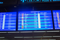 Time table at Don Mueang International Airport Royalty Free Stock Photos