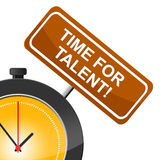 Time For Talent Represents Strong Point And Skill Royalty Free Stock Images