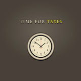 Time for taxes Royalty Free Stock Images
