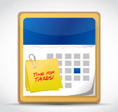 Time for taxes calendar illustration Royalty Free Stock Photography