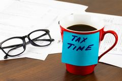 Time for Taxes Money Financial Accounting Taxation Concept.  Royalty Free Stock Photo