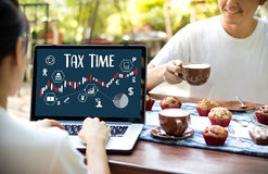 Time for Taxes Planning Money Financial Accounting Taxation Busi. Nessman Tax Economy Refund Money royalty free stock photography