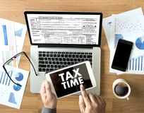 Time for Taxes Planning Money Financial Accounting Taxation Busi. Nessman Tax Economy Refund Money stock image