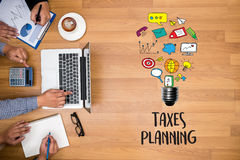 Time for Taxes Planning Money Financial Accounting Taxation and. Individual income tax return form Stock Photo