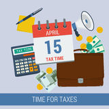 TIME FOR TAXES Stock Image