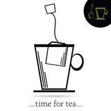 Time for tea art vector Stock Image