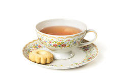 Time for tea. Cup of tea  on white background Royalty Free Stock Photography