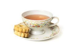 Time for tea. Cup of tea  on white background Stock Photos