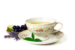 Time for tea. Cup of tea  on white background Stock Photography