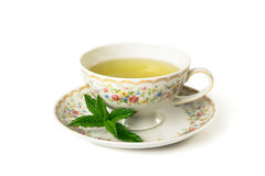 Time for tea. Cup of tea  on whitea background Stock Images