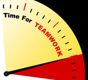 Time For Teamwork Message Represents Combined Effort And Coopera Stock Photography