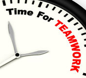 Time For Teamwork Message Shows Combined Effort And Cooperation Royalty Free Stock Photo