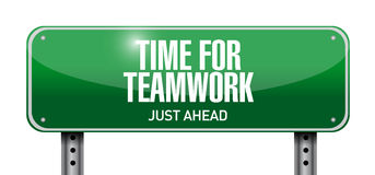 time for teamwork road sign illustration Stock Image