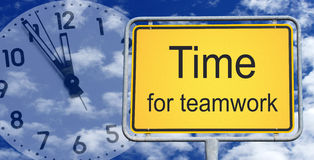 Time for teamwork sign Royalty Free Stock Photo